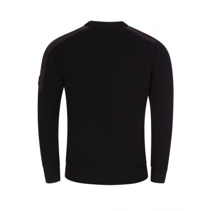 Black Mixed Lambswool Knitted Jumper