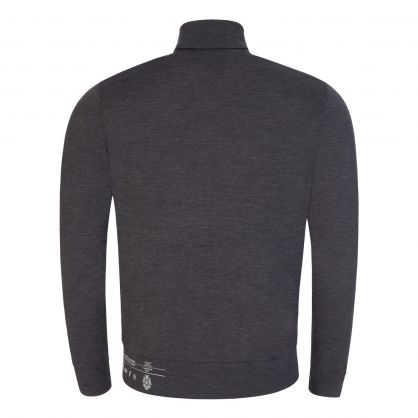 Grey Knitted Turtleneck Pullover