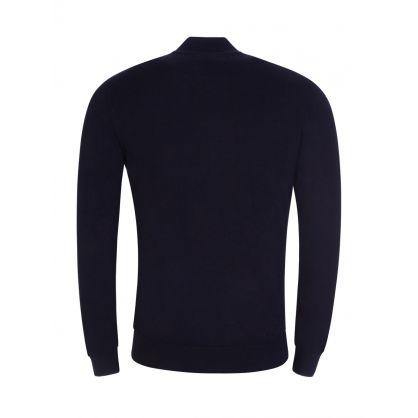 Navy Zip-Through Knitted Cardigan