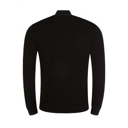 Black Zip Knitted Cardigan