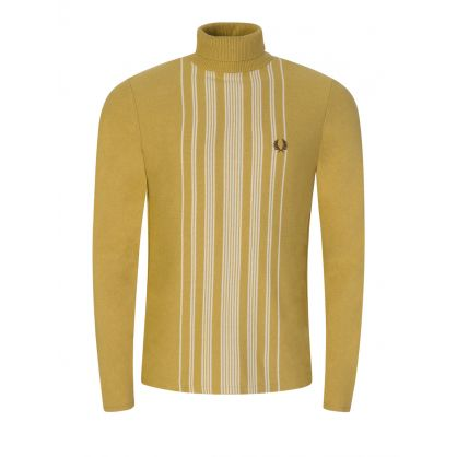 Gold Stripe Knitted Roll Neck Jumper