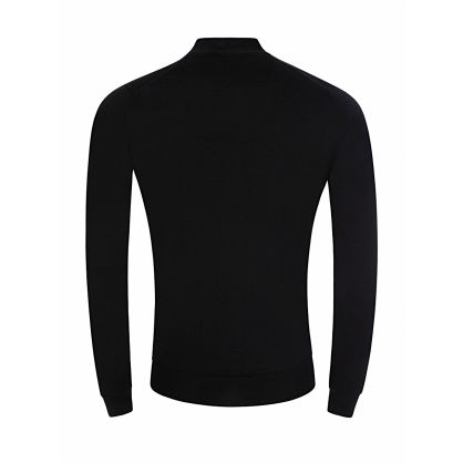 Black Knitted Barrow 1/4-Zip Pullover