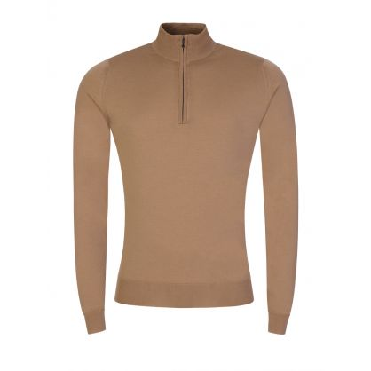 Brown Barrow 1/4-Zip Jumper