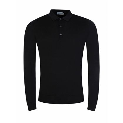Black Knitted Belper Shirt