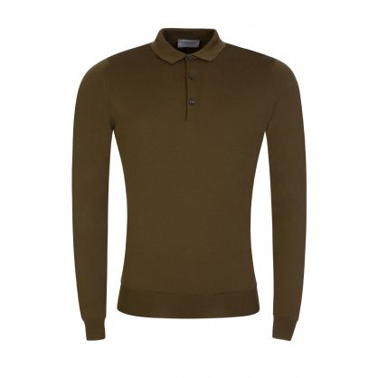Khaki Brown Belper Polo Shirt