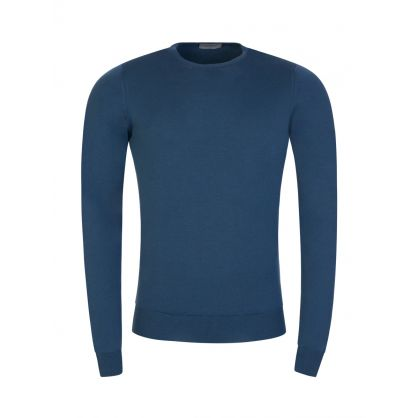 Blue Lundy Crew Neck Jumper