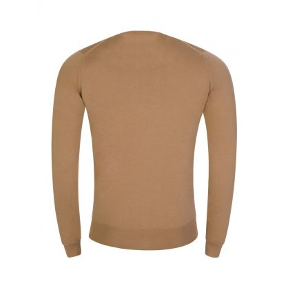Brown Lundy Crew Neck Jumper