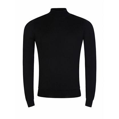 Black Harcourt Mock Turtleneck Pullover