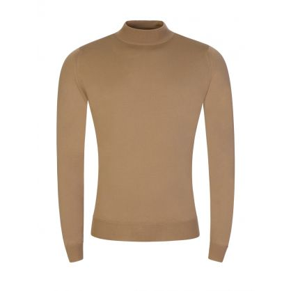Harcourt Brown Mock Turtle Pullover