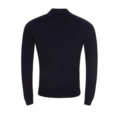 Navy Maclean Full Zip Knitted Jacket