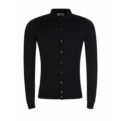 Black Knitted Roston Shirt
