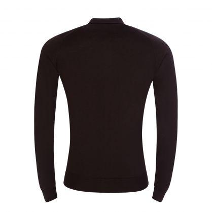Dark Brown Roston Knitted Polo Shirt