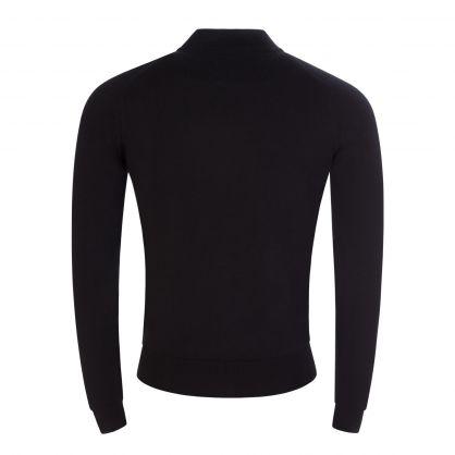 Black  Maclean Full Zip Knitted Jacket