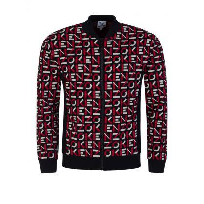Black Sport Jacquard Monogram Jacket