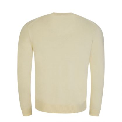 Cream Multicolour Logo Knitted Jumper