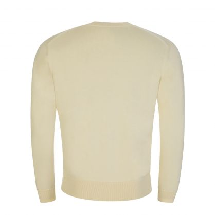 Cream Knitted Tiger Patch Jumper
