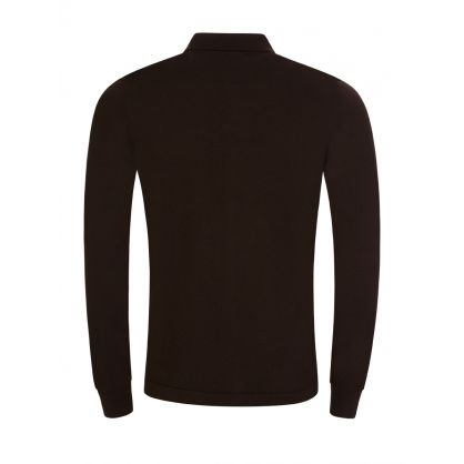 Brown Nyle Merino Zip-Through Cardigan