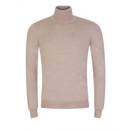 Beige Merino Wool Lyd Turtleneck Sweatshirt