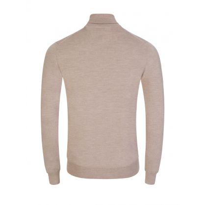Beige Merino Wool Lyd Turtleneck Sweatshirt