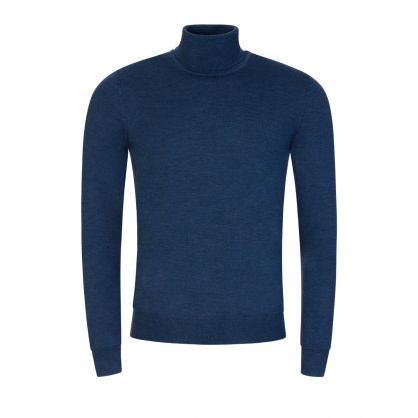 Blue Lyd Merino Turtleneck Jumper