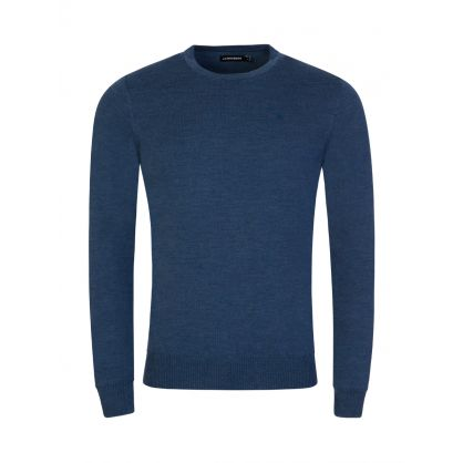 Navy Merino Wool Knit Lyle Sweatshirt