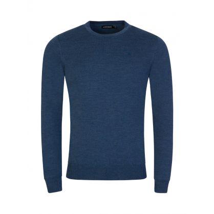 Navy Merino Wool Knit Lyle Sweatshirt