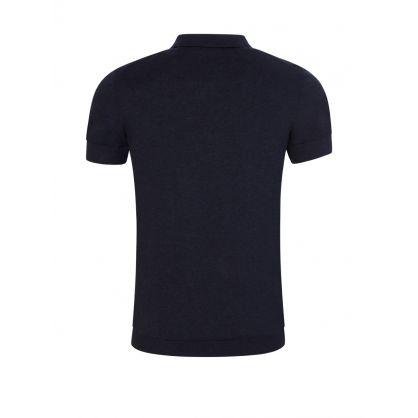 Navy Ridge Cotton Silk Polo Shirt