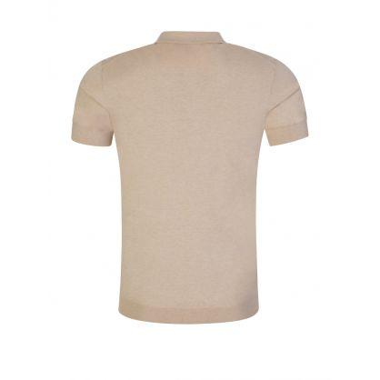 Beige Ridge Cotton Silk Polo Shirt