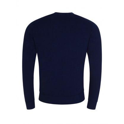 Navy Niklas Mouline Knitted Jumper