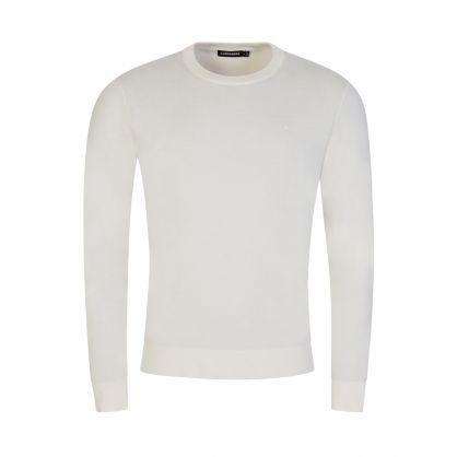 White Niklas Mouline Knitted Jumper