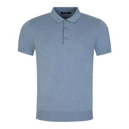 Light Blue Ridge Cotton Silk Polo Shirt