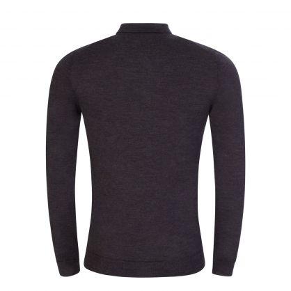 Dark Grey Noel Light Merino Polo Shirt