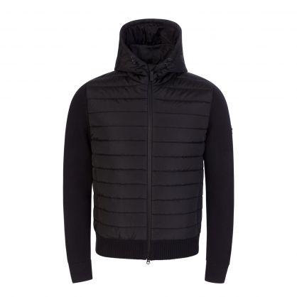 Black Pierre Knit Hybrid Jacket