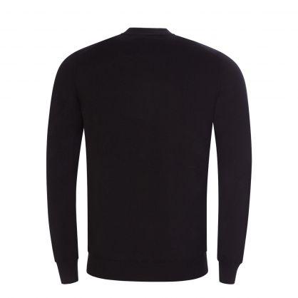 Black Lynn Merino Baseball Collar Sweatshirt