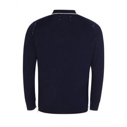 Navy Long-Sleeve 1/4-Zip Knit Polo Shirt