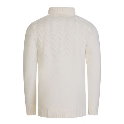 Off White Knitted Jumper