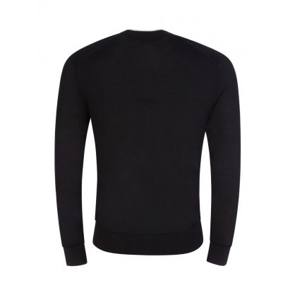 Black Wool/Silk/Cashmere Jumper
