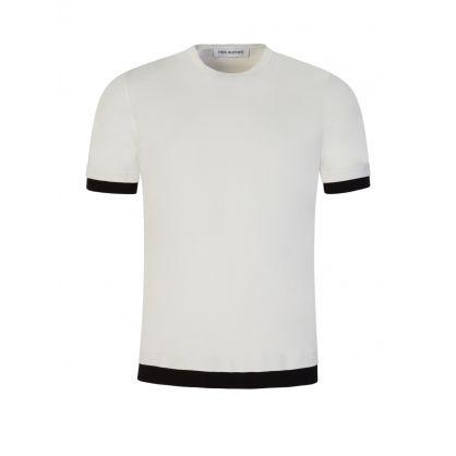White/Black Travel Knit Jumper