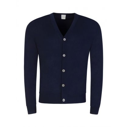 Navy Button Through Cardigan