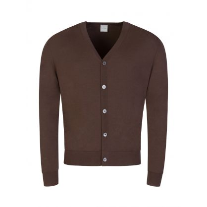 Brown Button Through Cardigan