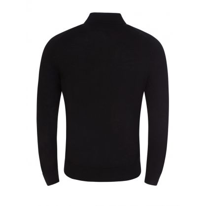 Black Knitted Polo Jumper