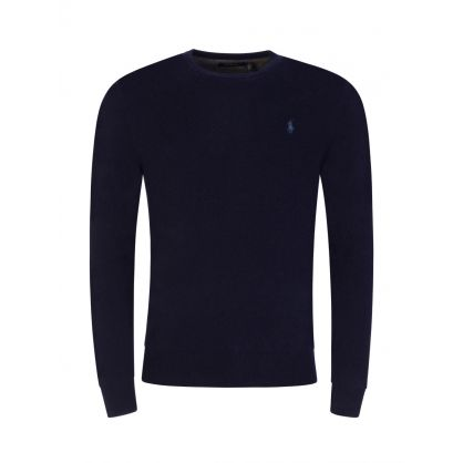 Navy Loryelle Wool Jumper