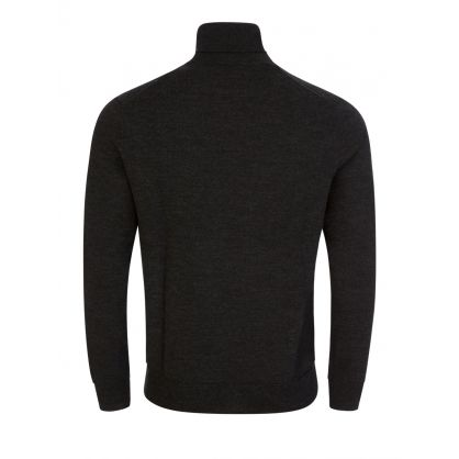 Dark Grey Roll Neck Merino Jumper