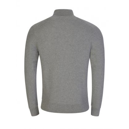 Grey Textured 1/2 Zip Sweatshirt