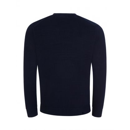 Navy Original Logo Knit Jumper