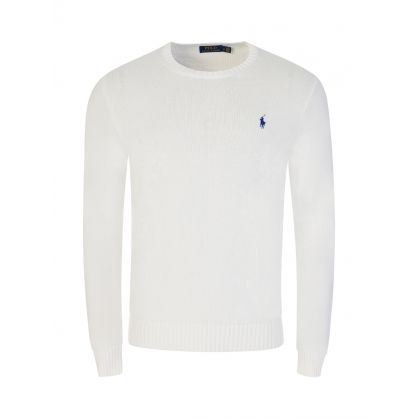 White Knit Pullover
