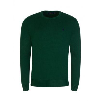 Green Cotton Crewneck Jumper