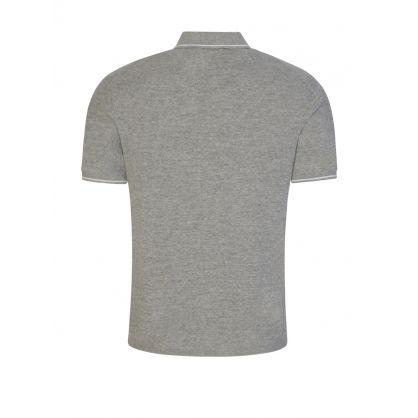 Grey Cotton-Linen Polo Jumper