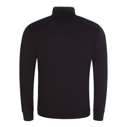 Black Soft Cotton Roll Neck Top