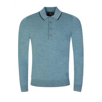 Green Merino Wool Polo Shirt